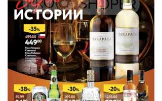 Каталог товаров ОКЕЙ на сегодня: Алкоголь по акции с 7 по 20 января 2021 года