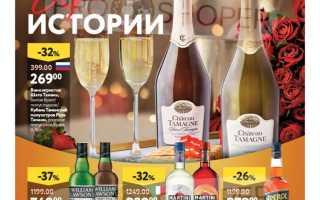 Каталог товаров ОКЕЙ на сегодня: Алкоголь по акции с 4 по 17 марта 2021 года